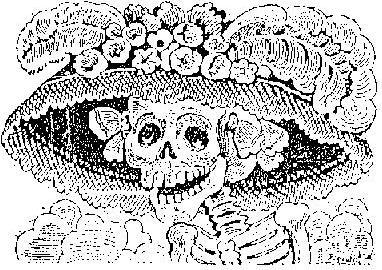 """""""CATRINA"""" POPULAR ICONO DEL DIA DE MUERTOS EN MEXICO"""